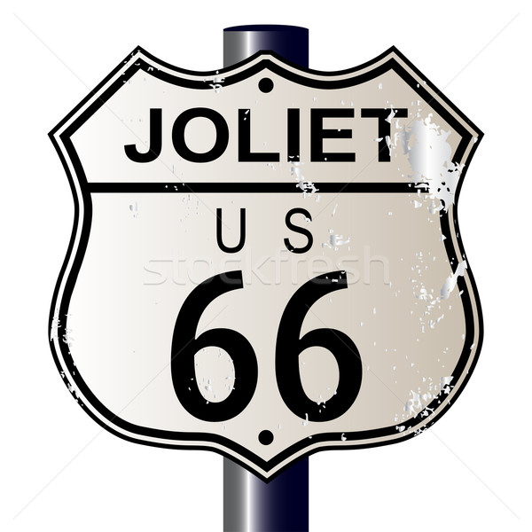 Joliet Route 66 Sign Stock photo © Bigalbaloo