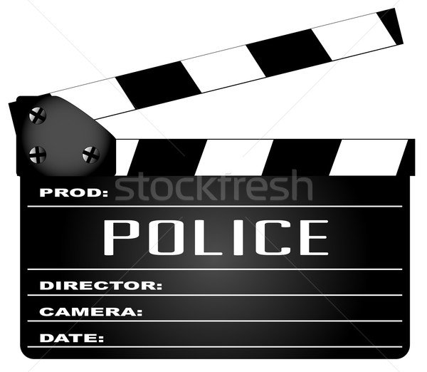 Police Clapperboard Stock photo © Bigalbaloo