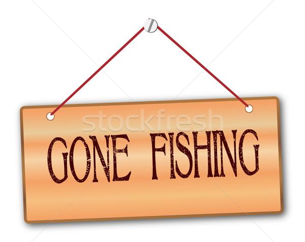 Gone Fishing Stock photo © Bigalbaloo