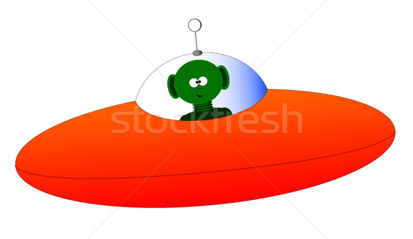 Alien Flying Saucer Stock photo © Bigalbaloo