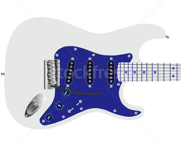 Chitarra elettrica blu tradizionale solido corpo metal Foto d'archivio © Bigalbaloo