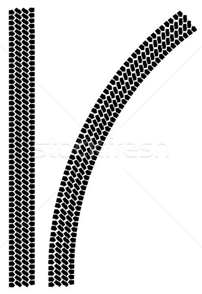 Tyre Tread Marks Stock photo © Bigalbaloo