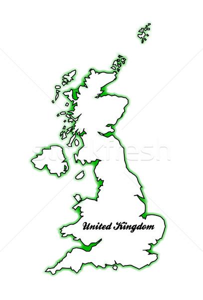 Великобритания карта Англии Шотландии Сток-фото © Bigalbaloo