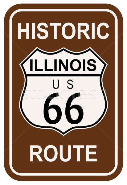 Illinois Historic Route 66 Stock photo © Bigalbaloo