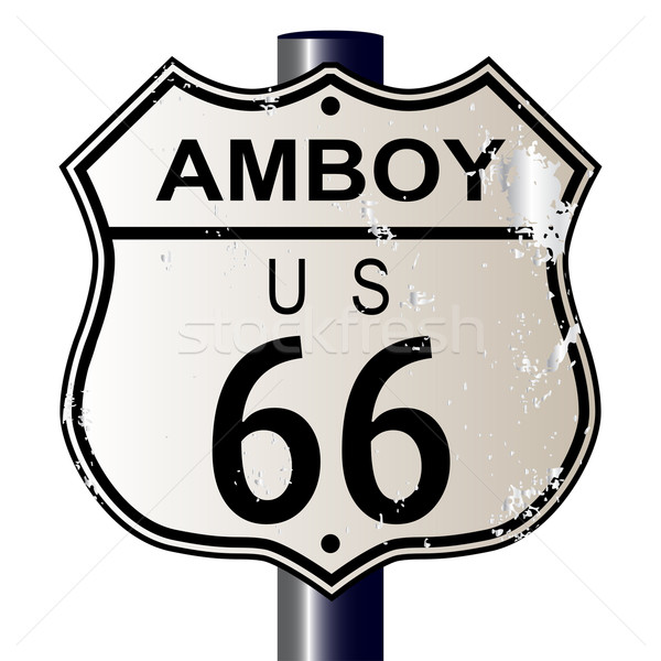 Amboy Route 66 Sign Stock photo © Bigalbaloo