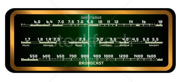 Valf radyo ekran tipik eski moda beyaz Stok fotoğraf © Bigalbaloo