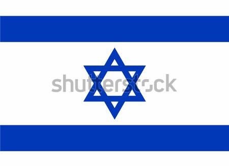 Israel Flag Stock photo © Bigalbaloo