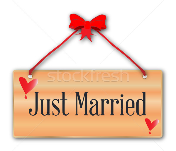 Just Married Sign Stock photo © Bigalbaloo