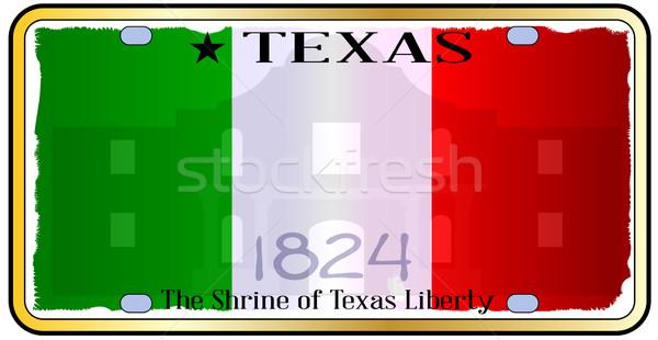 Texas placa desenho automático américa EUA Foto stock © Bigalbaloo