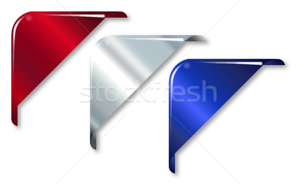 красный белый синий уголки коллекция веб Сток-фото © Bigalbaloo