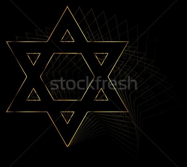 Golden Star Of David Stock photo © Bigalbaloo