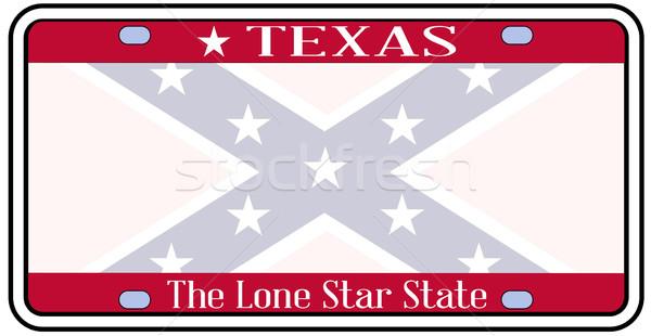 Texas Confederate Flag Plate Stock photo © Bigalbaloo