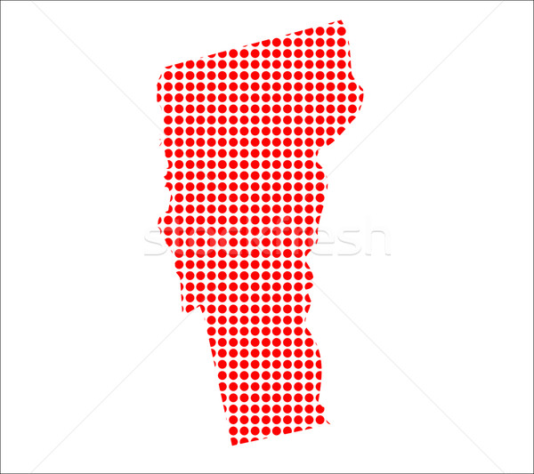 Kırmızı nokta harita Vermont arka plan Metal Stok fotoğraf © Bigalbaloo