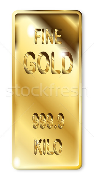 Fine Gold Ingot Stock photo © Bigalbaloo