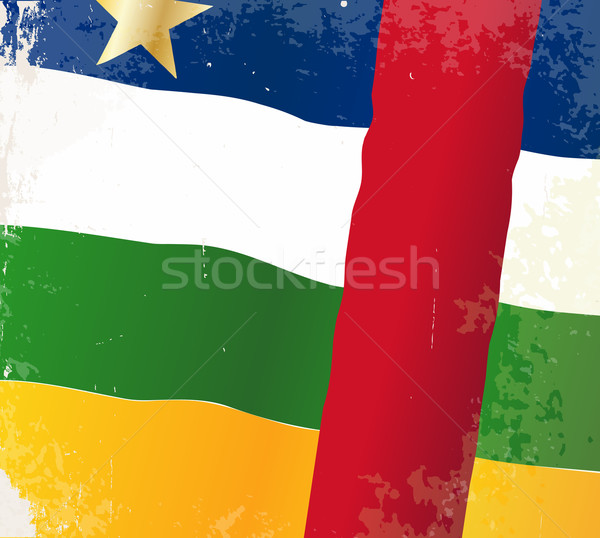 Central African Republic Flag Stock photo © Bigalbaloo