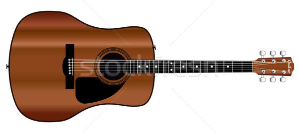 Acoustic Guitar Stock photo © Bigalbaloo