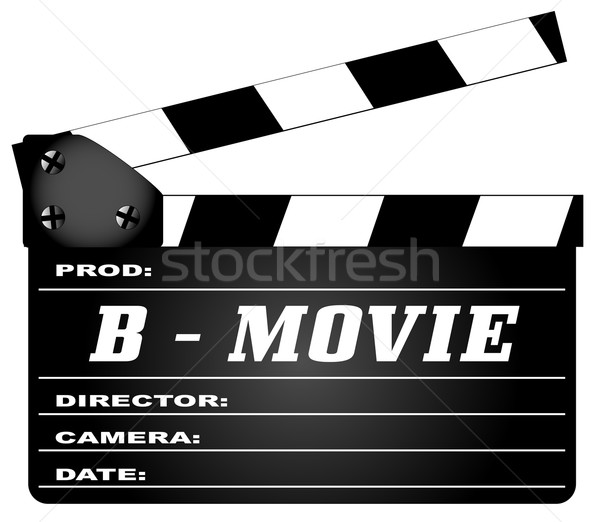 B Movie Clapperboard Stock photo © Bigalbaloo