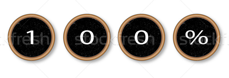100 Percent Typewriter Keys Stock photo © Bigalbaloo