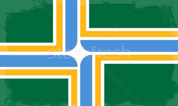 Portland City Flag Stock photo © Bigalbaloo