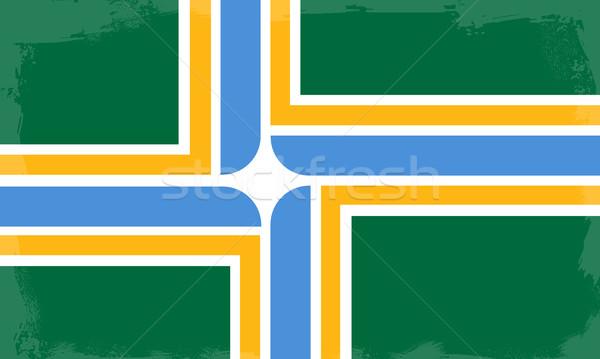Portland City Flag Stock photo © Bigalbaloo