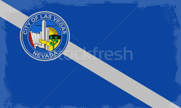 Las Vegas City Flag Stock photo © Bigalbaloo