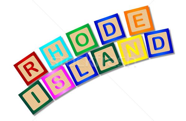 Rhode Island cartas coleção ortografia branco Foto stock © Bigalbaloo
