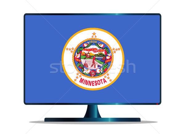 Zászló tv képernyő számítógép monitor mac Stock fotó © Bigalbaloo