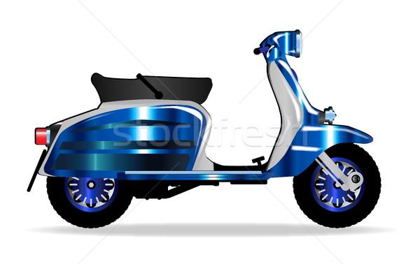 Stock fotó: 60-as · évek · motor · moped · tipikus · 1960 · stílus