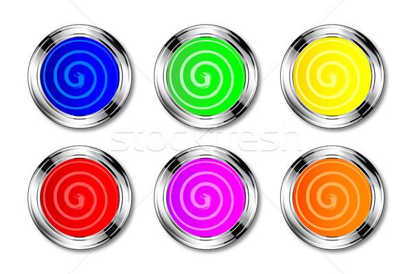 Pintura olla colores colección remolino arte Foto stock © Bigalbaloo
