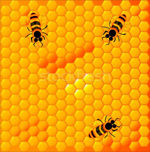 A nido d'ape luminoso giallo alimentare oro Foto d'archivio © Bigalbaloo