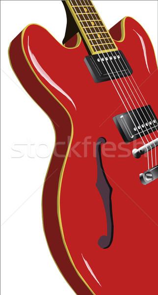 Spaans klassiek solide jazz blues gitaar Stockfoto © Bigalbaloo