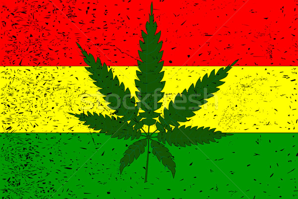 Rastafarian Flag Stock photo © Bigalbaloo