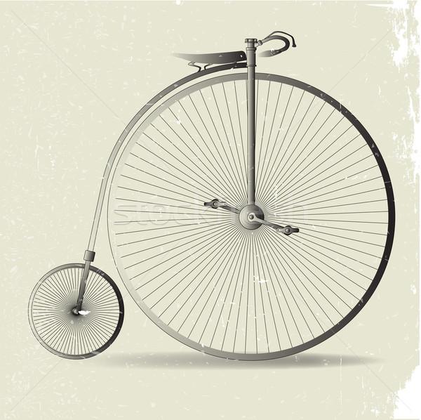 Grunge penny afbeelding typisch fiets effect Stockfoto © Bigalbaloo