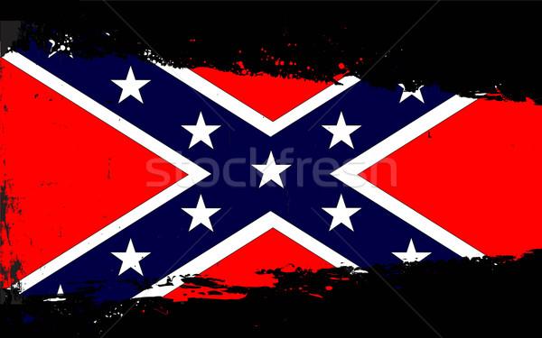 Confederate Flag Splash Stock photo © Bigalbaloo
