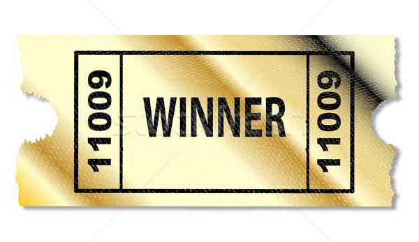 Golden Winner Ticket Stock photo © Bigalbaloo