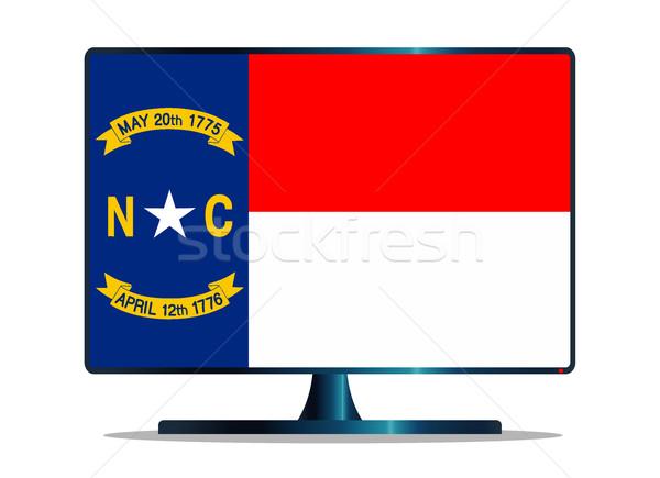 észak zászló tv képernyő monitor kék Stock fotó © Bigalbaloo