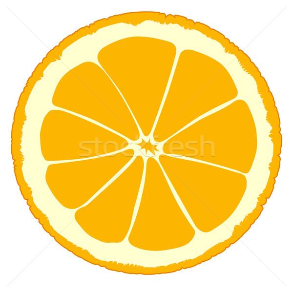 Rodaja de naranja aislado blanco naranja beber jugo Foto stock © Bigalbaloo