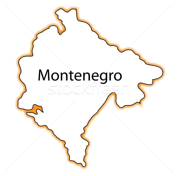 Черногория карта белый графических иллюстрация Сток-фото © Bigalbaloo