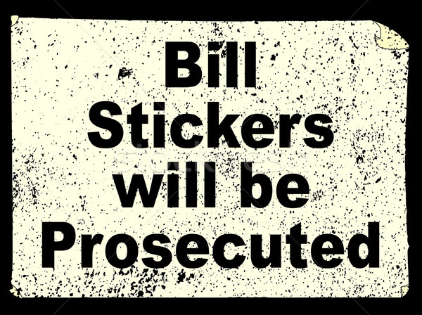 Bill Stickers Stock photo © Bigalbaloo
