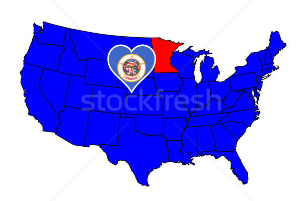 Minnesota ikon ayarlamak harita Amerika Birleşik Devletleri Stok fotoğraf © Bigalbaloo