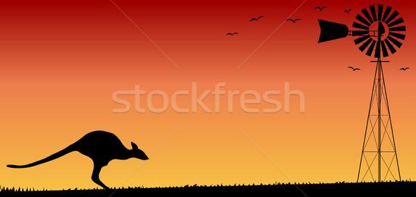 Australian Sunset Stock photo © Bigalbaloo