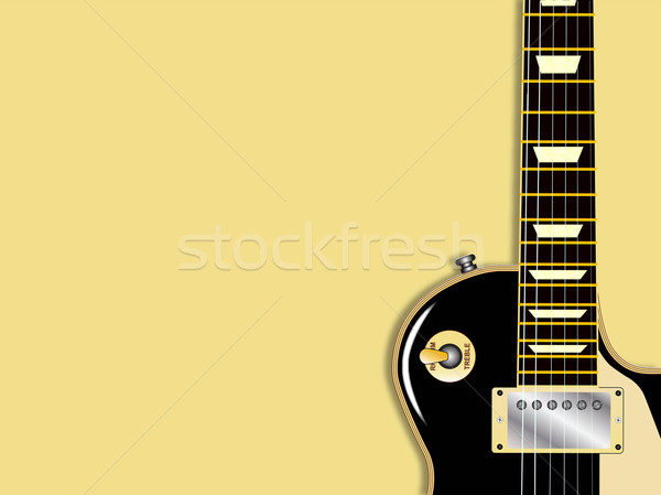 Guitar Copy Space Stock photo © Bigalbaloo