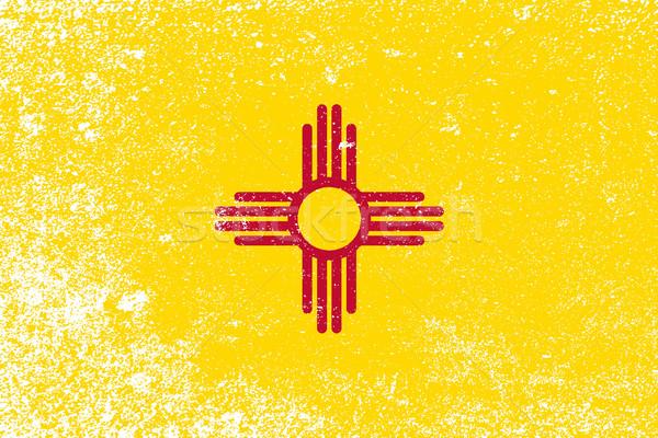 Нью-Мексико флаг Гранж эффект графических Сток-фото © Bigalbaloo