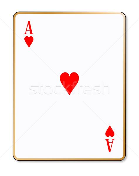 Ace Hearts Stock photo © Bigalbaloo