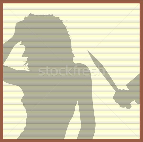 Ventana asesino establecer cerrado marfil color Foto stock © Bigalbaloo