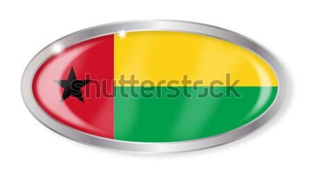 Guinea Bissau Flag Oval Button Stock photo © Bigalbaloo