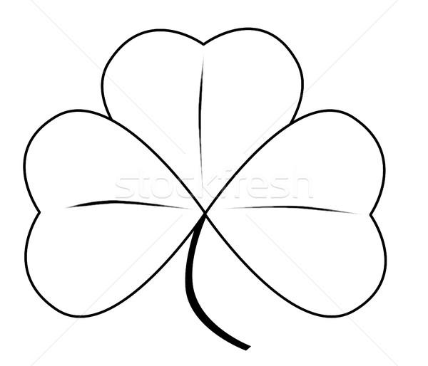 Shamrock chanceux irlandais blanche résumé Photo stock © Bigalbaloo