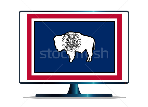 フラグ テレビ コンピュータの画面 コンピュータ モニター Mac版 ストックフォト © Bigalbaloo