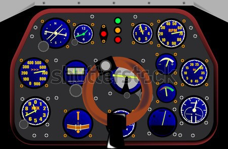 Kabina pilota wewnątrz myśliwiec płaszczyzny strony wojskowych Zdjęcia stock © Bigalbaloo