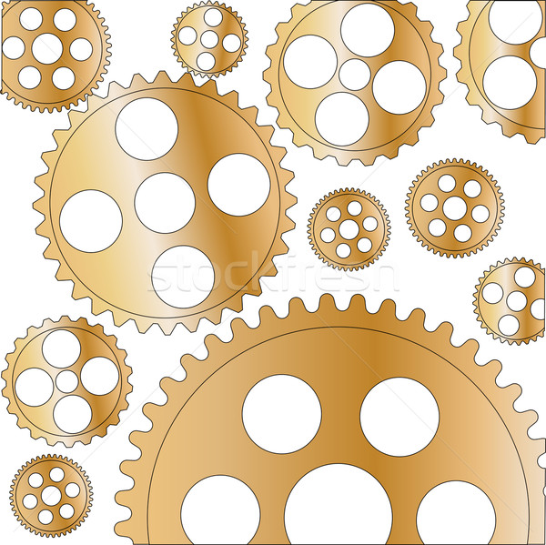 Cogs and Gears Stock photo © Bigalbaloo